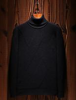 Standard Pullover Da uomo-Casual Ufficio Semplice Boho Moda città Tinta unita Girocollo Manica lunga Cotone Autunno Inverno Medio spessore