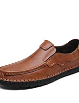 Men's Shoes Leather Nappa Leather Spring Fall Comfort Loafers & Slip-Ons For Casual Party & Evening Dark Brown Light Brown Black