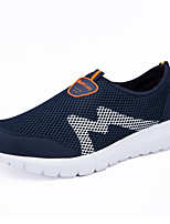 Women's Sneakers Comfort Spring Fall Tulle Casual Outdoor Flat Heel Blue Navy Blue Gray Flat