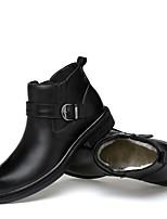 Damen Schuhe Echtes Leder Nappaleder Leder Winter Komfort Schneestiefel Modische Stiefel Stiefeletten Springerstiefel Flaum Futter Stiefel