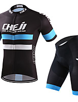 Cycling Jersey with Shorts Men's Short Sleeves Bike Clothing Suits Quick Dry Stretchy Breathability Fashion Summer Cycling/Bike