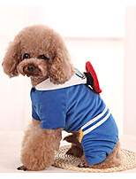 Dog Costume Dog Clothes Casual/Daily Cartoon Blue Red