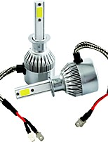 H1 H3 H7 H8 H9 800 H11 COB LED Car Headlight Bulb Hi-Lo Beam 72W 7600LM 6500K Auto Headlamp 9v 36v