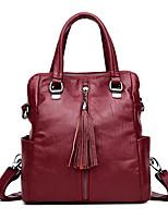 Women Bags All Seasons PU Backpack Zipper for Casual Blue Black Bronze Wine