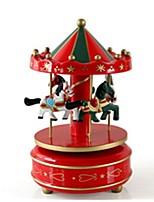 Music Box Toys Horse Carousel Wood Pieces Unisex Christmas Birthday Gift