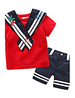Girls' Embroidered Sets,Cotton Summer Short Sleeve Clothing Set