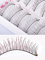 Eyelashes lash Full Strip Lashes Women Outdoor Lady Eye Daily Eyes Eyelash Universal Holiday Crisscross Natural Long The End Is Longer
