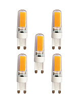 5 pcs 3W G9 LED Bi-pin Lights T 2 leds COB Warm White White 240lm 3000-3500/6000-6500K AC 220-240V
