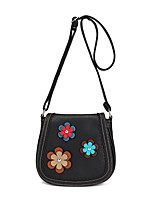 Women Bags All Seasons PU Shoulder Bag Flower(s) for Casual Office & Career Blue Black Red Beige Khaki