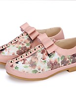 Girls' Shoes Paillette Glitter Leatherette Spring Fall Flower Girl Shoes First Walkers Flats Bowknot Sequin Rivet Sparkling Glitter Split