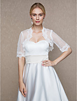 Women's Wrap Shrugs Tulle Wedding Party/ Evening Applique