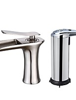 Centerset Ceramic Valve Brushed , Bathroom Sink Faucet