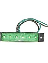 Sencart 12pcs 6LED 2835SMD Green Lamp Brake Side Marker Light Truck Trailer Indicators DC24V