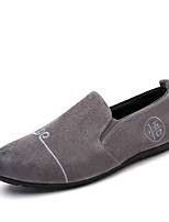 Men's Loafers & Slip-Ons Driving Shoes Spring Fall Canvas Casual Stitching Lace Flat Heel Yellow Gray Black Flat