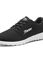 Men's Shoes Knit Spring Fall Comfort Sneakers Lace-up For Casual Red Gray Black
