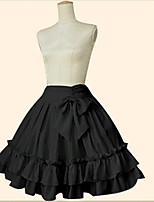 Skirt Sweet Lolita Classic/Traditional Lolita Little Black Dress Elegant Cosplay Lolita Dress Blue Black Pink Solid Color Ankle-length