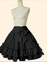 Rock Niedlich Klassische/Traditionelle Lolita Kleines Schwarzes Kleid Elegant Cosplay Lolita Kleider Rosa Schwarz Blau Einheitliche Farbe