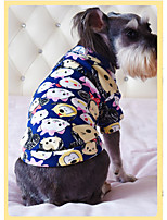Dog Sweatshirt Dog Clothes Casual/Daily Cartoon Dark Blue Gray Red Blue Blushing Pink