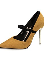 Women's Shoes Suede Fall Winter Basic Pump Heels With For Party & Evening Dress Khaki Red Yellow Black