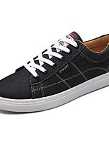 Men's Shoes PU Fall Comfort Sneakers Lace-up For Casual Black/Red Black/White Black/Gold