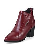 Femme Chaussures Similicuir Automne Hiver Bottes à la Mode Bottes Talon Aiguille Bout pointu Bottine/Demi Botte Boucle Pour Décontracté