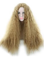 Women Synthetic Wig Capless Long Curly Blonde Party Wig Halloween Wig Natural Wigs Costume Wig