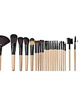 24pcs Makeup Brush Set Blush Brush Eyeshadow Brush Brow Brush Eyeliner Brush Eyelash Brush Fan Brush Powder Brush Foundation Brush Nylon