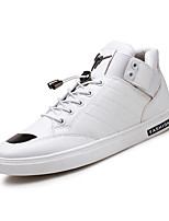 Men's Shoes PU Spring Fall Comfort Sneakers Lace-up For Casual Outdoor Black White Gold