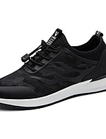 Men's Shoes Fabric Spring Fall Comfort Sneakers Lace-up For Casual Black/White Black