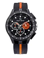 Herrn Sportuhr Armbanduhr Armbanduhren für den Alltag Chinesisch Quartz / Silikon Caucho Band Vintage Bequem Schwarz
