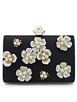 Women Bags All Seasons Other Leather Type Shoulder Bag Beading Appliques for Event/Party Shopping Gold Black Silver