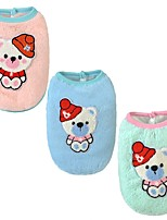 Dog Vest Dog Clothes Casual/Daily Cartoon Blushing Pink Blue Green