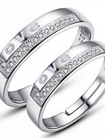 Casal Anéis de Casal cuff Anel Amor Clássico Liga Jóias Jóias Para Casamento Noivado
