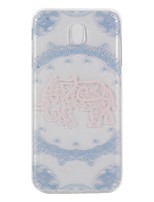 Case For Samsung Galaxy J7 (2017) J3 (2017) Transparent Pattern Back Cover Lace Printing Elephant Soft TPU for J7 (2017) J5 (2016) J5