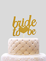 Cake Topper Wedding Hearts Paper Wedding With PVC Bag