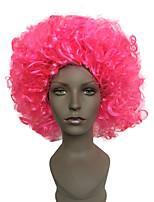 Donna Pantaloncini Ricci Jheri Rosa Parrucca riccia stile afro Parrucca di Halloween costumi parrucche