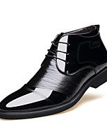 Men's Shoes Real Leather Leather Synthetic Fall Winter Comfort Formal Shoes Fur Lining Fluff Lining Oxfords Lace-up For Casual Office &