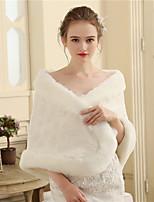 Women's Wrap Capes Faux Fur Wedding Party/ Evening Petals