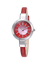 Women's Fashion Watch Quartz Water Resistant / Water Proof Genuine Leather Band Black White Red Brown Khaki