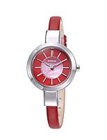 Жен. Модные часы Кварцевый Защита от влаги Натуральная кожа Группа Черный Белый Красный Коричневый Хаки
