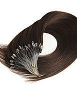 50g Micro Ring Loop 100% Human Hair Extensions Soft Real Beauty Straight Hair 100strands/Per Pack 16-24 Inch Supply