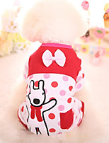 Dog Clothes/Jumpsuit Dog Clothes Casual/Daily Cartoon Blue Red