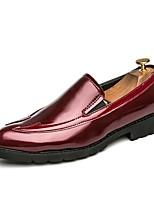 Da uomo Mocassini e Slip-Ons Comoda Scarpe formali Scarpe da immersione Primavera Autunno PU sintetico Serata e festa Piatto Nero Rosso