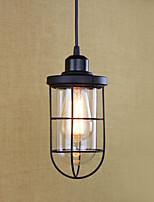 lumière pendante rétro lanterne pays peinture caractéristique pour edison bulbe mini style designers salle à manger en métal salle d'étude