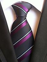 Men's Polyester Neck Tie,Striped Striped All Seasons