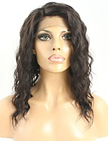 Women Human Hair Lace Wig Remy Glueless Lace Front 150% Density With Baby Hair Wavy Wig Black Short