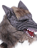 Halloween Creepy Rubber Animal Mane Werewolf Wolf Head Mask Head Halloween Masquerade Cosplay Party Costume Prop