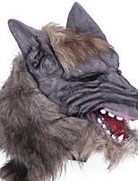 halloween gruseligen gummi tier mähne werwolf wolf kopf maske kopf halloween maskerade cosplay party kostüm prop