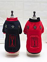 Cane Felpa Abbigliamento per cani Pile Inverno Casual Tenere al caldo Formale Nero Rosso Per animali domestici