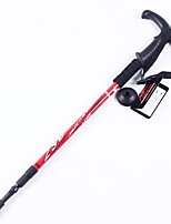 3 Nordic Walking Poles 135cm (53 Inches) Form Fit Rubber Aluminum Alloy